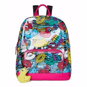 BETSEY JOHNSON  Printed Clear Backpack